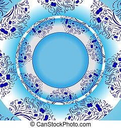 Vector light blue template