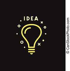 Vector light bulb icon. Idea concept