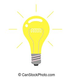 Vector light bulb icon, idea concept.