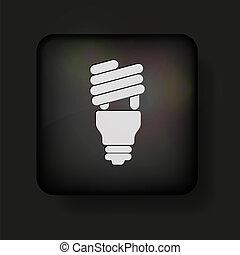 Vector light bulb icon on black. Eps 10