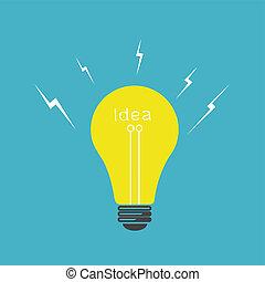 Vector light bulb idea