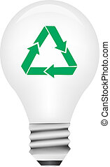 Vector light bulb with cycling symb