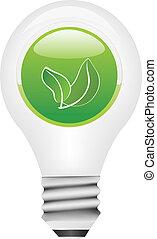 Vector light bulb with ecology butt