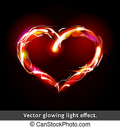 Vector light effect heart