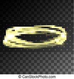 Vector light gold circle.