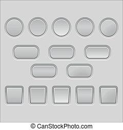 Vector light grey empty buttons