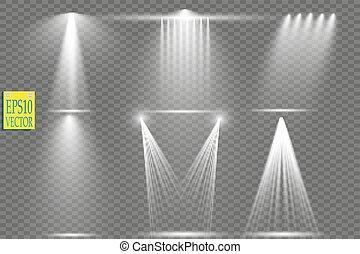 Vector light sources, concert lighting, stage spotlights...