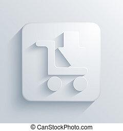 Vector light square icon. Eps10