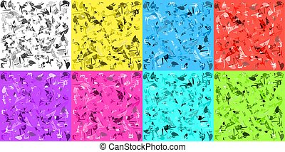 Vector light texture set of scattered polygons for the day sky or decoration in bright rooms.