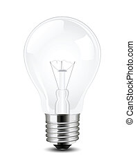Vector lightbulb - Vector illustration of a simple lightbulb