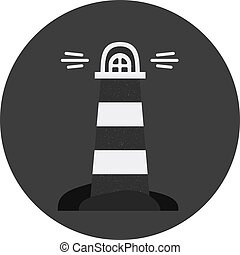 Vector lighthouse icon