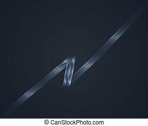 Vector Lightning. Glow lines