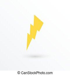 Vector lightning icon