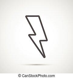 Vector lightning isolated on white background