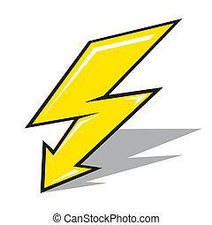 vector, lightning, meldingsbord
