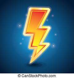 Vector lightning symbol