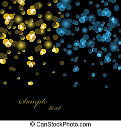Vector lights background
