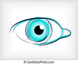 vector, lijnen, concept, oog