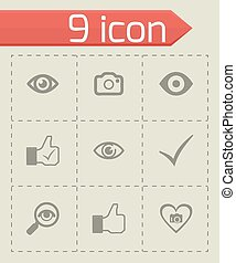 Vector like icons set