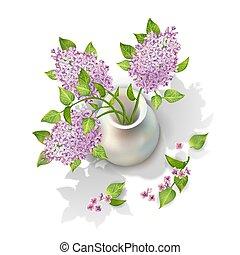 Vector Lilac in Vase