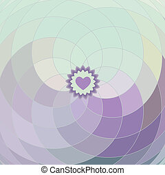 Vector lilac spiral background