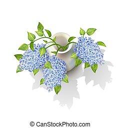 Vector Lilacs in Vase