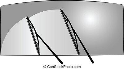 vector, limpiaparabrisas, ilustración