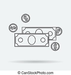 Line Art Money Icon