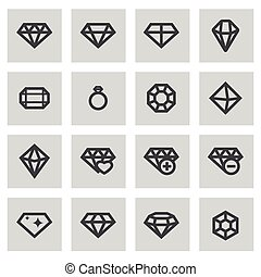 Vector line diamond set