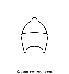 vector line icon - Egyptian hat icon in line style. Egyptian...