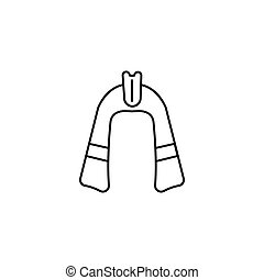 vector line icon - Egyptian Pharaoh hat icon in line style....