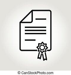 Vector line patent icon. Patent Icon Object, Patent Icon...