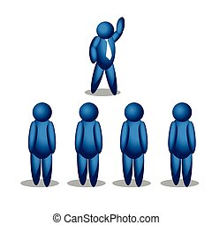 Vector line people icon. illustration in vector format