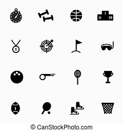 vector line set sports game icons.