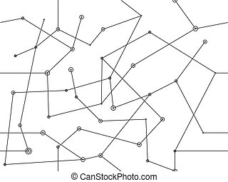 vector linear black seamless pattern abstract geometric background network design element