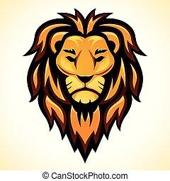 Vector lion head color design