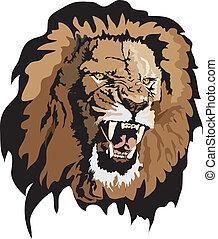 vector - lion