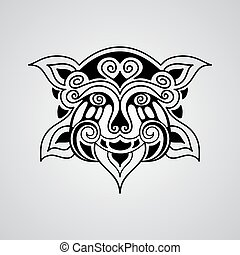 vector lion tattoo sketch