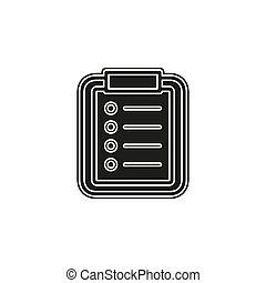 Vector list Icon, checklist