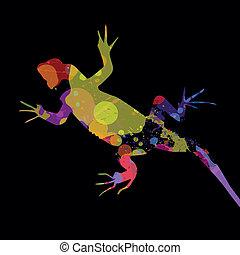 Vector lizard - Vector illustration of an abstract lizard