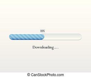 Vector loading bar. Progress of downloading or...