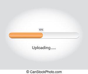 Vector loading bar. Progress of  uploading.eps10