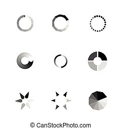 Vector Loading Icons set.