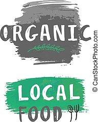 Vector local food label