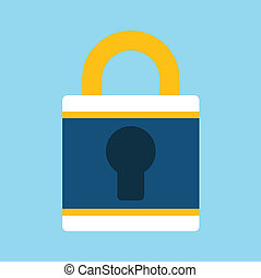 Vector Lock Flat Icon