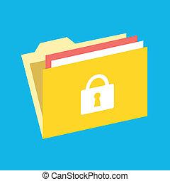 Vector Locked Folder Icon
