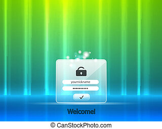 Vector login background - Vector glowing background with...