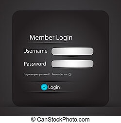 Vector login page - Abstract login vector background for...
