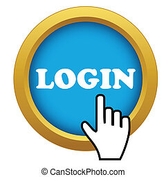 Vector login time icon
