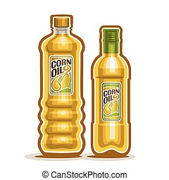 Bottle with pure Corn Oil